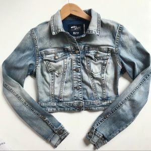 SILVER JEANS CO. cropped jean jacket-XS